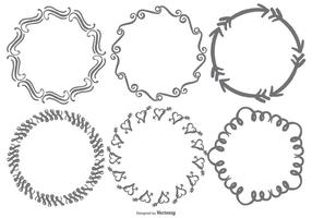 Hand Drawn Doodle Frames vector