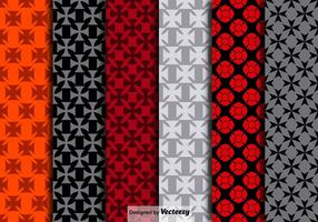 Vector Maltese Crosses Seamless Patterns
