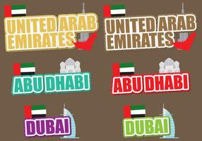 United Arab Emirates Titles vector
