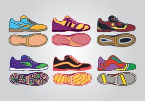 Vecteurs de chaussures de futsal