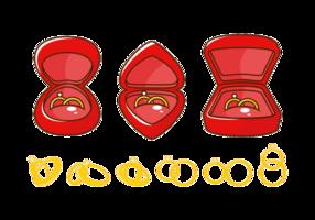 Vektor Hochzeit Ring