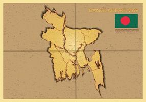 Illustration gratuite de la carte du Bangladesh
