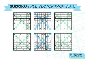 Sudoku Free Vector Pack Vol. 6