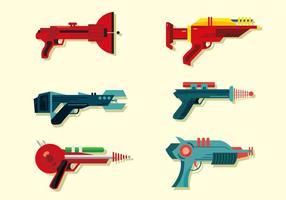 Laserpistol vektorpack