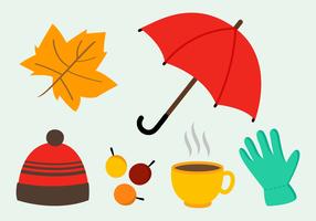 Vettore gratuito degli elementi di autunno