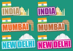 India Titles vector