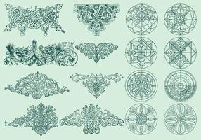 Line Ornaments vector