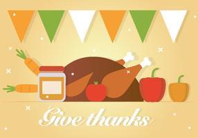 Gratis Give Gracias vector de fondo