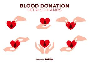 Blood Drive Vector Flat Color Icons