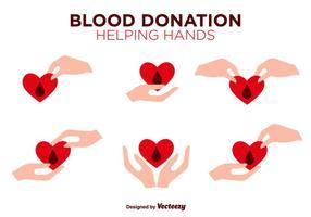 Iconos de colores planos de vector de unidad de sangre