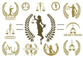 Gratis Lady Justice Logo Vector