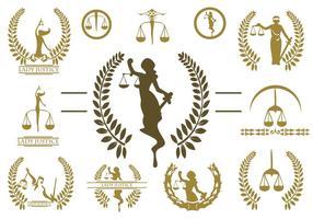 Freie Dame Gerechtigkeit Logo Vektor