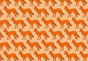 Orange Fox Pattern vector
