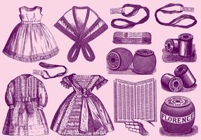 Matériaux et applications en dentelle vintage