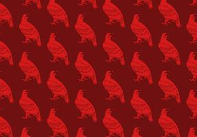 Red Hawk Seamless Pattern