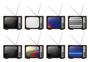 Broken Ananlog TV vector