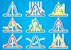 Bell Curve Stickers