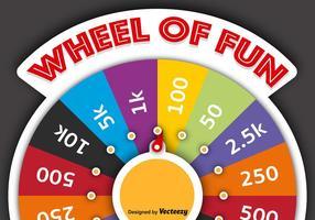 Vektor spinning hjul av förmögenhet