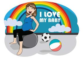 Free Pregnant Mom Illustration