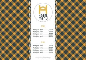 Gratis Hotel Menu Vector Sjabloon