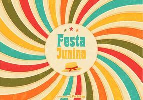 Freies Festa Junina Retro Vektor Poster