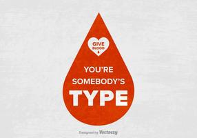 Gratis Blood Drive Slogan Vector Poster