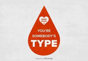 Affiche vectorielle gratuite de slogan de Blood Drive