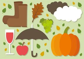 Free Flat Autumn Vector Elements