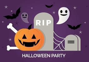 Gratis Scary Vector Halloween Bakgrund