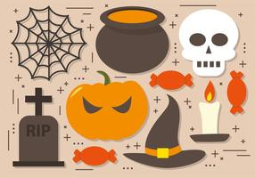 Spöklik Halloween Elements Vector Collection