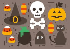 Collection gratuite de vecteur Halloween Elements