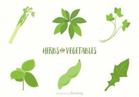 Vecteurs de légumes et d'herbes libres