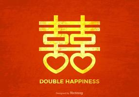 Gratis Grunge Kinesiska Bröllop Vector Bakgrund