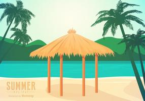 Gratis Beach Gazebo Vector Illustration