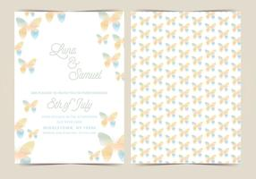 Butterfly Vector Wedding Invite
