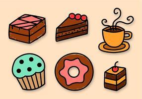 Vector de elementos de panadería gratis