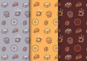 Vector de patrón de panadería gratis