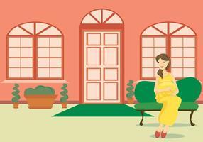 Art vectoriel de maman et d'enfant