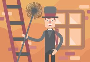 Chimney Sweep Vector Art
