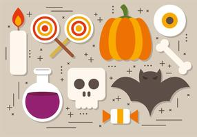 Rolig Halloween Elements Vector Collection