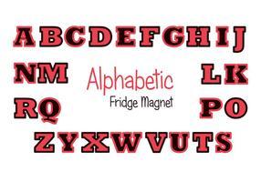 Conjunto de vector rojo y negro del imán del refrigerador