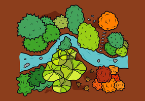 Gratis Jungle Tree Tops Vector