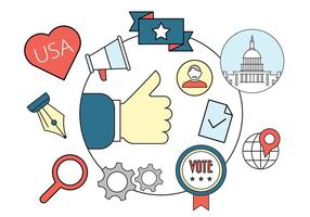 Badges vectoriels politiques