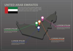 Gratis UAE-karta Illustration