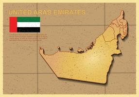 Free UAE map Ilustración