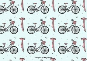 Bicycles And Bow Pattern vector