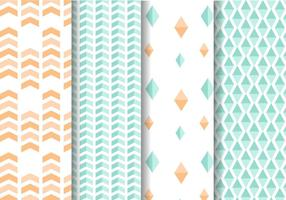 Mint-and-peach-geometric-pattern-vector