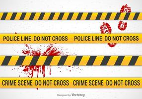 Pinceaux de vecteurs de ligne de police