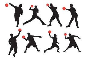 Active Dodgeball Silhouette vector