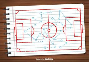 Vecteur du plan de football